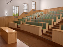 Empty modern style of lecturing of the University Royalty Free Stock Photography