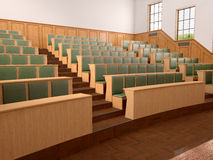 Empty modern style of lecturing of the University Stock Photos