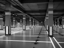 Empty modern underground parking 3d render. Empty modern underground parking 3d Stock Image