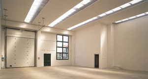 Empty modern warehouse Royalty Free Stock Photography