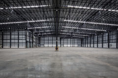 Empty modern warehouse. Empty modern warehouse for distribution goods Royalty Free Stock Image