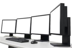 Empty monitors Stock Photo