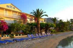 Empty morning beach,Lefkada island,Greece Royalty Free Stock Photography