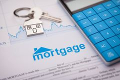 An empty mortgage application form with house key. Business working concepts royalty free stock photo