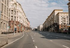 Free Empty Moscow Streets During The Quarantine Lockdown In May 2020 Stock Photos - 182505703