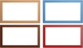 Empty motley frame Stock Image