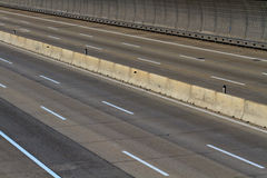 Empty motor way lanes Royalty Free Stock Image