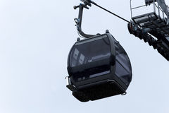 Empty Mountain Gondola Against Blue Sky Lake Tahoe California Stock Photography
