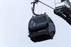 Empty Mountain Gondola Against Blue Sky Lake Tahoe California Stock Photography