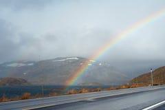Empty mountain road Stock Image