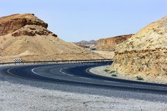 An empty mountain road Royalty Free Stock Photography