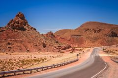 Empty mountain road in Argentina royalty free stock image