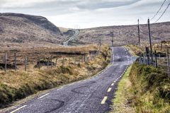 Empty Road Ireland 0007. Empty mountain road in County Kerry on the west coast of Ireland Stock Images
