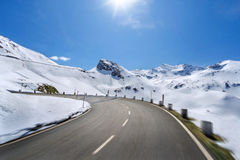 Empty mountain road Royalty Free Stock Images
