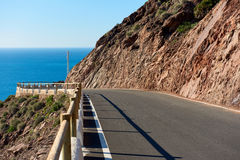 Empty mountain winding road Royalty Free Stock Image