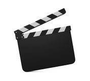 Empty Movie Clapper Board. Isolated on white background. 3D render Stock Photos