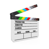Empty Movie Clapper Board. Isolated on white background. 3D render Royalty Free Stock Photo
