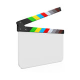 Empty Movie Clapper Board. Isolated on white background. 3D render Royalty Free Stock Photography