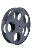 Empty Movie Reel. Isolated over white background royalty free stock images