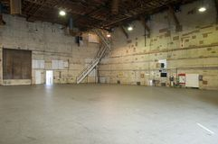 Empty movie studio. With sound proof walls, high ceiling Stock Image