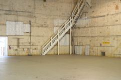 Empty movie studio. With sound proof walls, high ceiling Royalty Free Stock Images