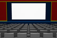 Empty movie theater blank screen Stock Photos