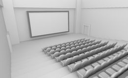 Empty Movie Theater interior Stock Images