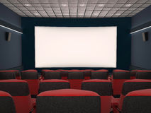 Empty movie theater. With red seats Royalty Free Stock Images