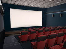 Empty movie theater royalty free stock photography