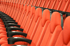 Empty Movie Theater - Red Seats Royalty Free Stock Photo