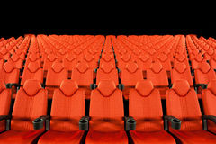 Empty Movie Theater - Red Seats Stock Photography