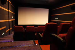 Empty movie theater. Royalty Free Stock Photography