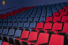 Empty Movie Theater Seats Stock Photo
