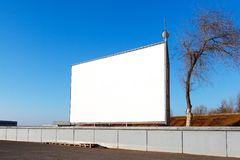 Empty movie theater under the open sky Royalty Free Stock Photo