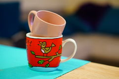 Empty mugs Royalty Free Stock Images