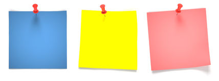 Empty multicolored notes Stock Image