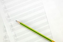 Empty music sheet Royalty Free Stock Images