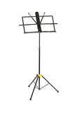 Empty music stand isolated Stock Photography