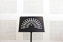 Empty music stand in soundproof room Stock Images