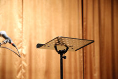 Empty music stand on the stage as a background Royalty Free Stock Photography