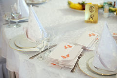 Empty Name Card on Table Royalty Free Stock Images