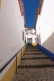 Empty narrow street in Obidos Royalty Free Stock Photos