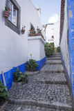 Empty narrow street in Obidos Stock Photography