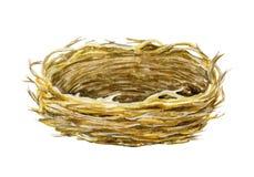 Empty Nest. Basket. Watercolor illustration. Spring symbol. Happy Easter. royalty free illustration