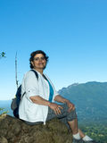 Empty Nester Latina Woman Traveling And Hiking Royalty Free Stock Images