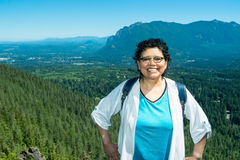 Empty Nester Latina Woman Traveling And Hiking Royalty Free Stock Photo