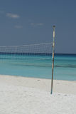 Empty net. Old beach volley ball net on a Varadero Cuban beach Royalty Free Stock Images