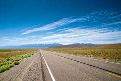 Empty Nevada Highway Stock Photography
