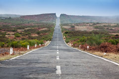 Empty never ending road in the island Madeira Stock Photo