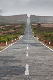 Empty never ending road in the island Madeira Stock Photos